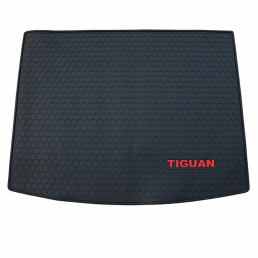 For Volkswagen Tiguan 2017 2018 Dedicated Car Cargo Rear Trunk Mat Boot Liner Tray Rubber Texture All Weather Waterproof car auto boot liner cargo mat tray rear trunk sticker for audi a4 s4 rs4 sedan 2002 2008 1pcs high quality car accessory covers