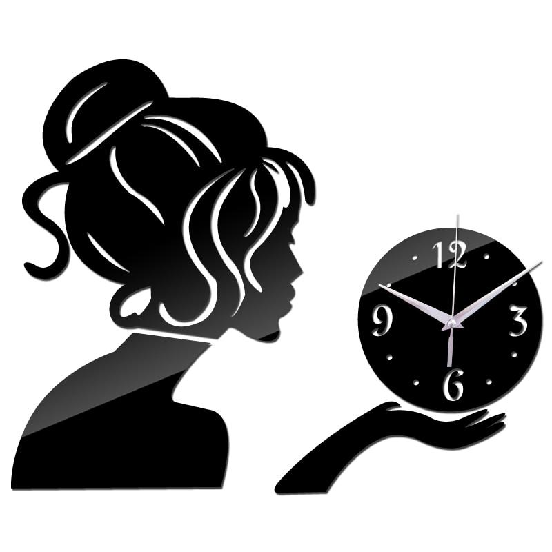 04a3373edf656 2017 novo relógio Sala relógio de parede relógios horloge Quartzo Agulha  Acrílico Decoração Da Casa 3d espelho diy adesivos frete grátis