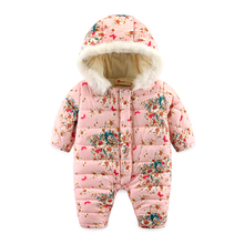 New baby girl's fleece crawling padded clothes thick