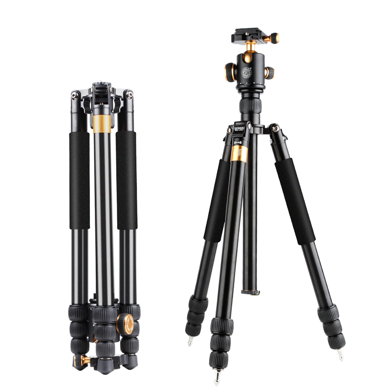 QZSD Q999B same as Z688 professional photographic travel compact aluminum heavy duty tripod monopod &ball head for camera дырокол deli heavy duty e0130