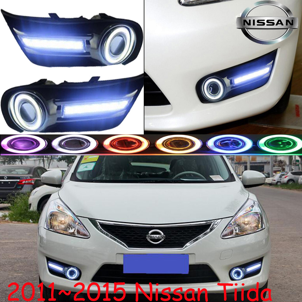 Tiida fog light LED 2011~2015 Free ship!Tiida daytime light,2ps/set+wire ON/OFF:Halogen/HID XENON+Ballast,Tiida bqlzr dc12 24v black push button switch with connector wire s ot on off fog led light for toyota old style