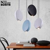 Nordic Creativity Modern Hanging Lamps Round Simple Cord Pendant Lamp Led Ring Resin Design Lamp Pendant