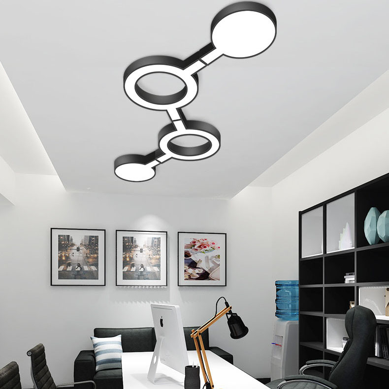 Modern Creative LED Ceiling Lighting Fixture Surface Mounted lamp Simple Household Ceiling Light Flush Mount Light modern simple ceiling light glass colorful macaron style lovely sweet family deco lighting fixture aluminum surface mounted lamp