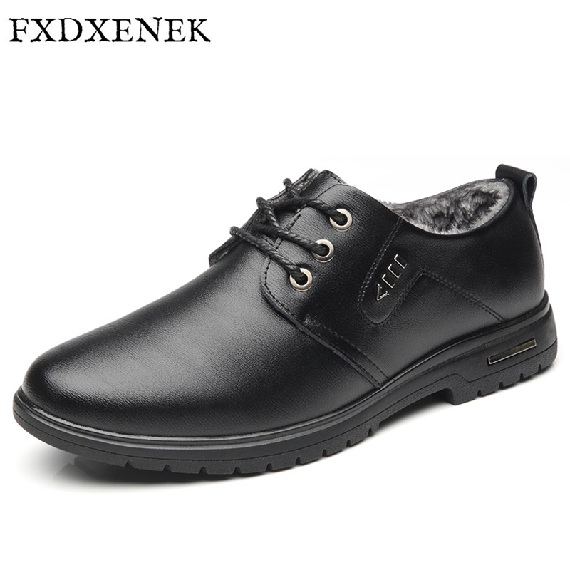 FXDXENEK New Split Leather Men Flats With Plush Warm Winter Men Casual Shoes For Gentlemen Oxfords Zapatos Hombres Man Shoes plush casual suede shoes boots mens flat with winter comfortable warm men travel shoes patchwork male zapatos hombre sg083