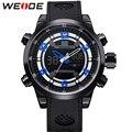 WEIDE Brand Relogio Masculino Sports Watch 3ATM Waterproof  Stopwatch Soft PU Strap Alarm Clock Men's Military Quartz Watches