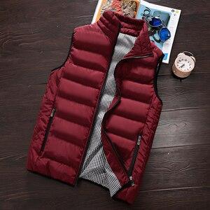 Image 3 - Vest Men 2020 New Autumn Winter Warm Sleeveless Jacket Waistcoat Mens Vest Fashion Casual Coats Mens 5XL