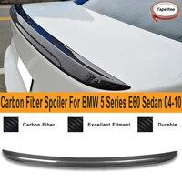 Спойлер для BMW 5 серии E60 седан M5 Стиль 2004 2010 Настоящее углеродного волокна задний спойлер багажника крыло авто Запчасти для авто