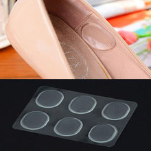 6 PCs/Sheet Women Ladies Girls Silicone Gel Shoe Insole Inserts Pad Cushion Foot Care Heel Grips Liner(China)