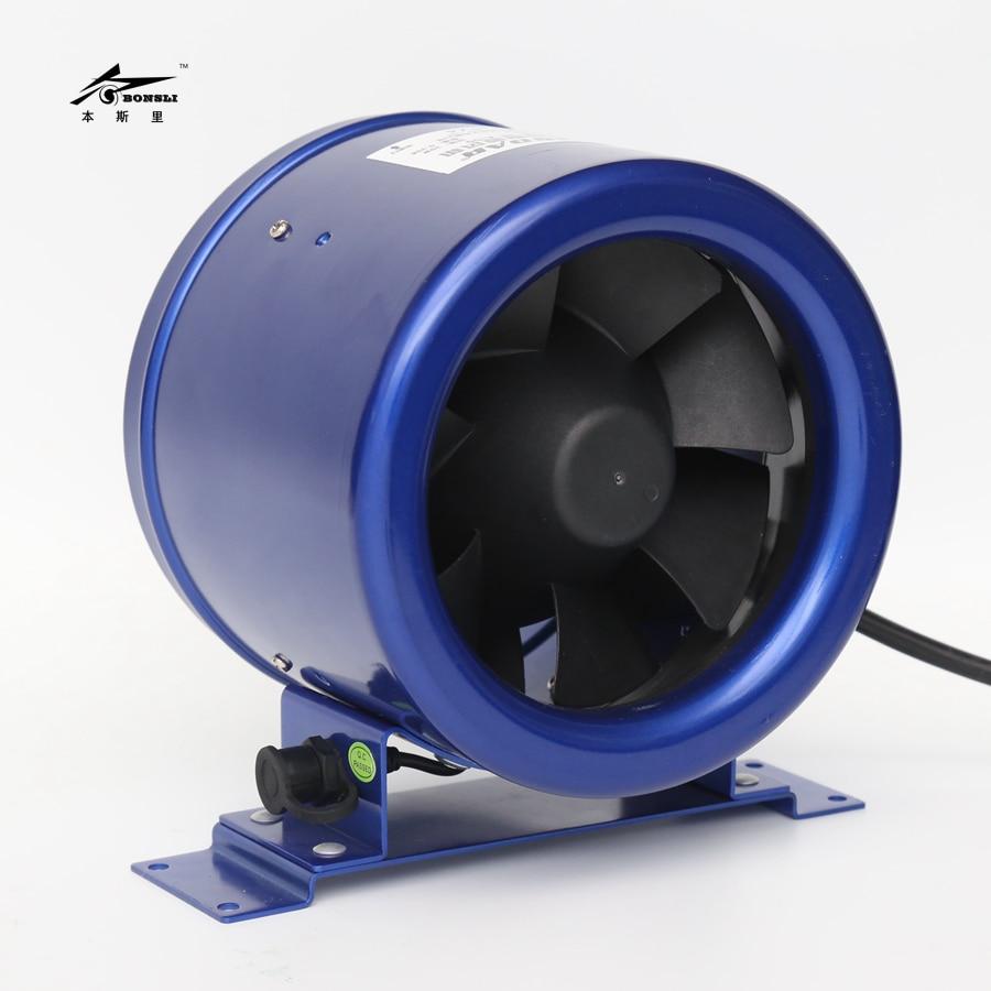 200mm diameter stepless rpm control duct fan 8 inch quiet exhaust ventilation fan inline fan все цены