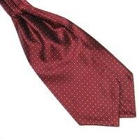 Men Polka Dot Long Silk Ties  Cravat Ascot Handkerchief Gentlemen FOR Drop Shipping 1