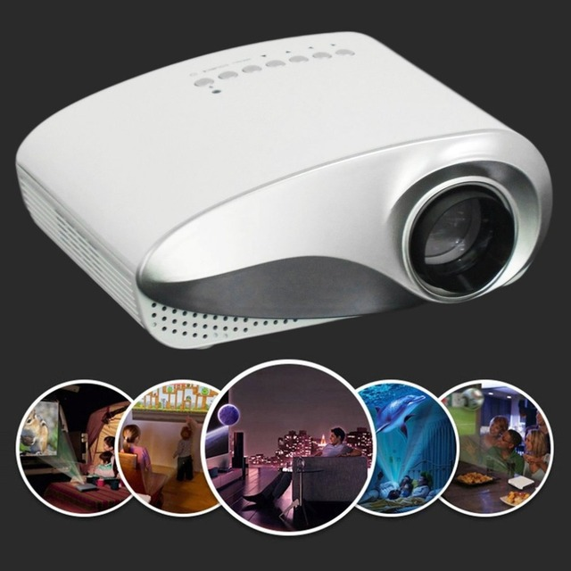 Best Offers Mini LED Projector Portable Home Theater Video Projector Home Multimedia Cinema TV Laptops Smartphones RD-802 White