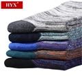 HYX Hombres Meias De Compressao para Regalos de Navidad Caja de Regalo de Productos Nuevos Para Hombre Vestido de Calcetines de Moda Calcetines De Algodón de Calidad