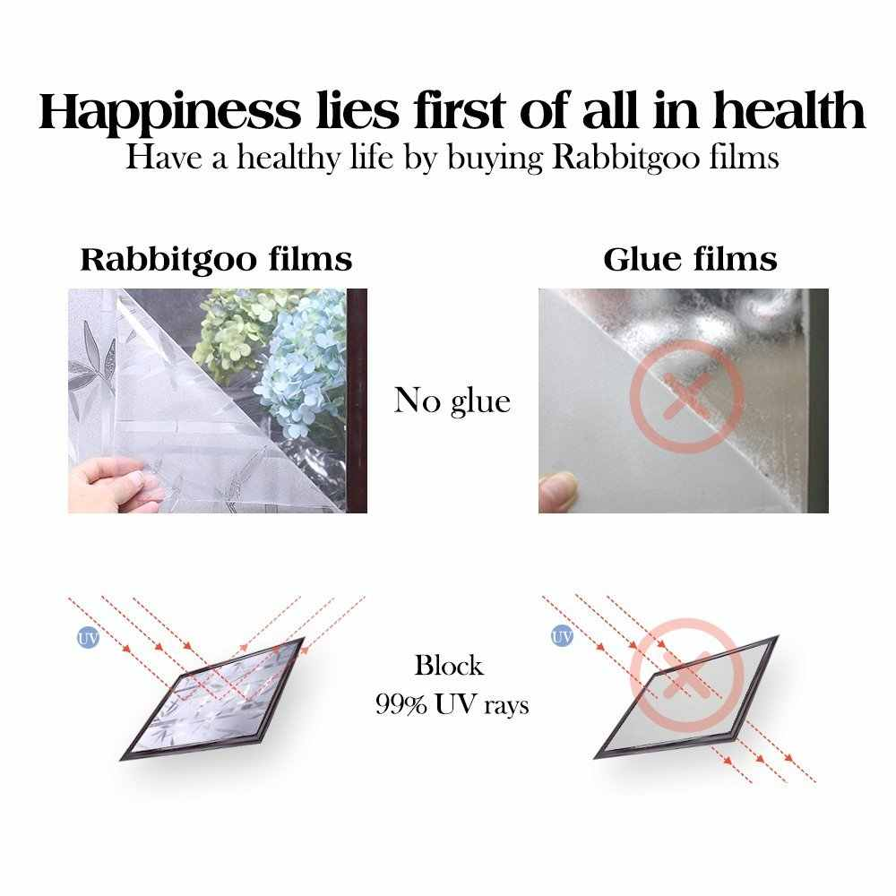 rabbitgoo 3ft x 3d no glue static decorative frosted.htm bamboo frosted window films privacy static cling vinyl decorative  films privacy static cling vinyl