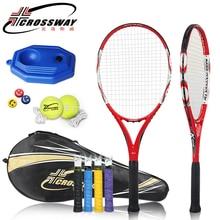 teniszütő High Quality Carbon Fiber teniszütő CROSSWAY Teniszütő táskával férfiak és nők számára