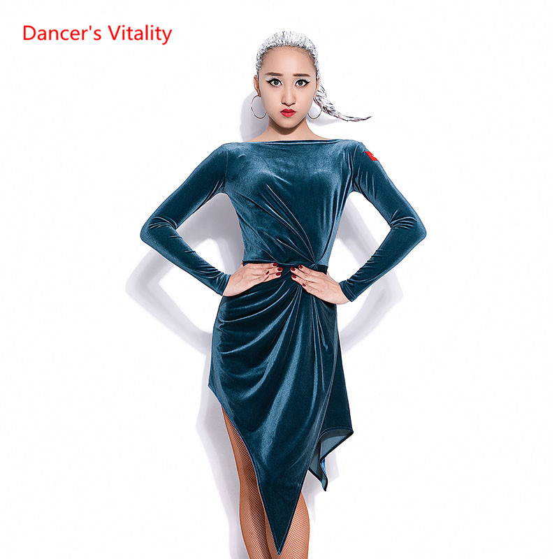 Lady Latin Dance dress Cha Cha/Rumba/Samba/Tango dress Irregular dress For women/famle latin Dance costumes Practice wears