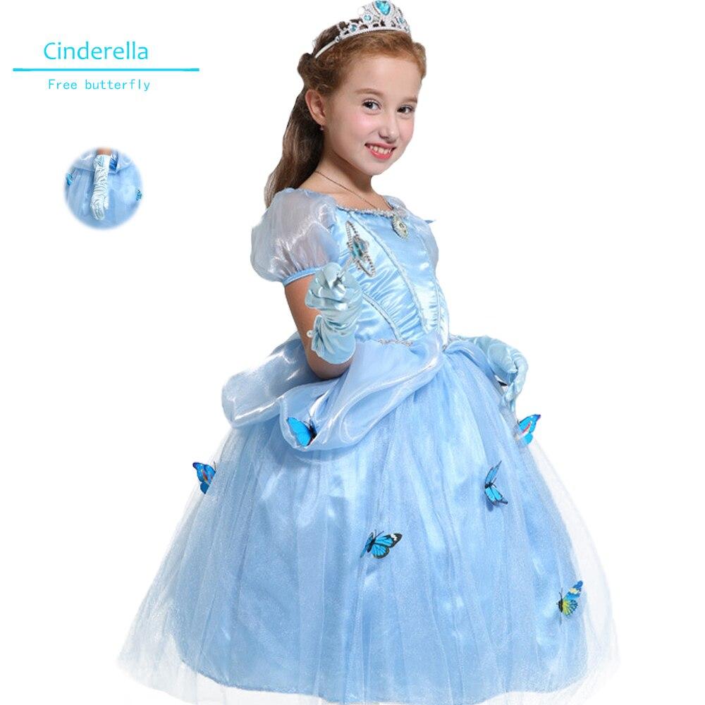 Kinder mädchen kleidung sommer Cinderella Prinzessin Kleid Film ...