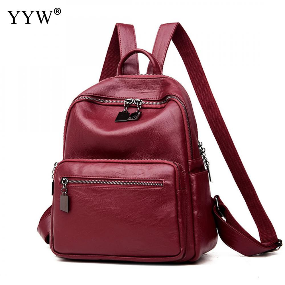 Laptop Backpack Women Leather Backpack Small Exquisite Travel Backpacks Notebook School Back Bags For Teenager Mochilas Mujer dispalang women laptop laptop backpack dog cat printed college school bags daily travel shoulder bag female notebook backpacks