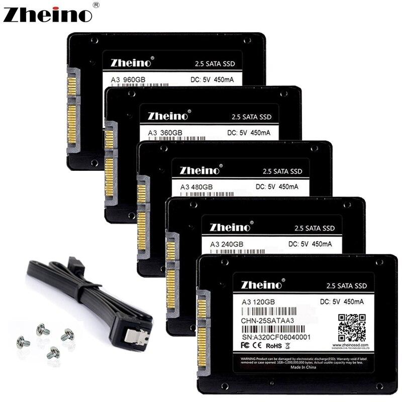 Zheino SATA3 SSD 60 gb 120 gb 240 gb 360 gb 480 gb 32 gb 64 gb 128 gb 256 gb 512 gb Disque Ssd Interne de Disque Pour le Bureau D'ordinateur Portable de PC