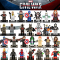 1PC Marvel diy figures Super Hero Avengers  X-Men Captain America 3 Batman Building Blocks Figures Bricks Kids Toys Xmas Gift