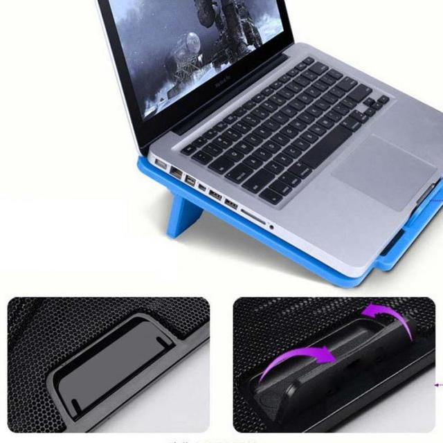 Laptop Cooler Cooling Pad Adjustable Chill Mat Stand with 2 LED Fans for 15.6 5