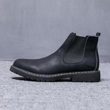 dudeli Winter Shoes Men Chelsea Boots Plush Fur Mens Boots Leather Footwear Mens Chelsea Boots sapato masculino Big Size 37-47
