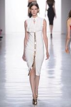 Front Open Fork Knee Length Rayon Bandage Dress