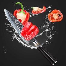 Damascus Kitchen Knife – Findking 8″ Damascus Chef Knife with Ebony Handle