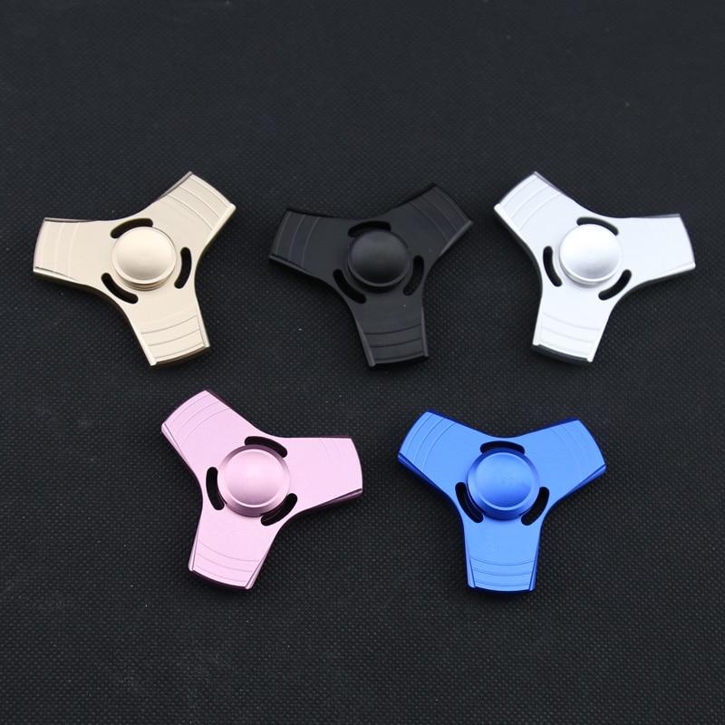 6cm EDC HandSpinner Fidget Spinner Metal Hand Spinner Finger Tri-Spinner Stress Reliever Spinning Fidget Toys For Children