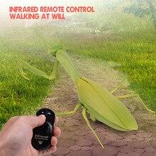 Инфракрасный пульт дистанционного управления реалистичный мини Mantis RC насекомых страшный трюк игрушка-симулятор животного Смешные шалости Дети Детские игрушки подарок