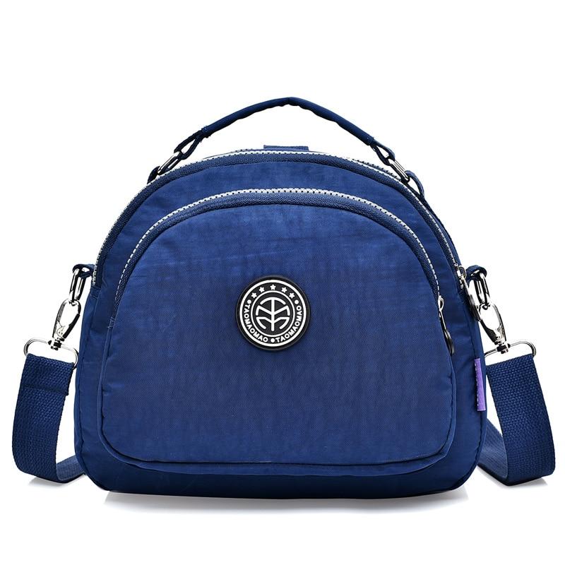Mada Nailono pečių krepšiai Moteriškos krepšelio krepšys Rankinė Tvirta vandeniui nepralaidi Messenger krepšys Moterų atsitiktinės moterys Crossbody Bags
