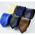 2016 Nueva Llegada de Boda Corbatas Delgadas Para Hombre de Alta Calidad Cravate Corbata A Rayas Corbatas Hombre corbatas de Los Hombres corbata de Punto Para negocio