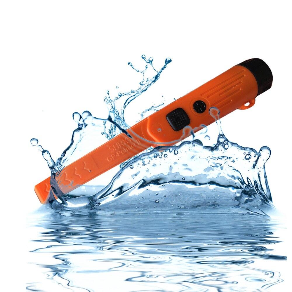 SHRXY Модернизированный Профессиональный точечный ручной металлоискатель GP-pointer2 Водонепроницаемый Регулируемый указатель оранжевый/черный...