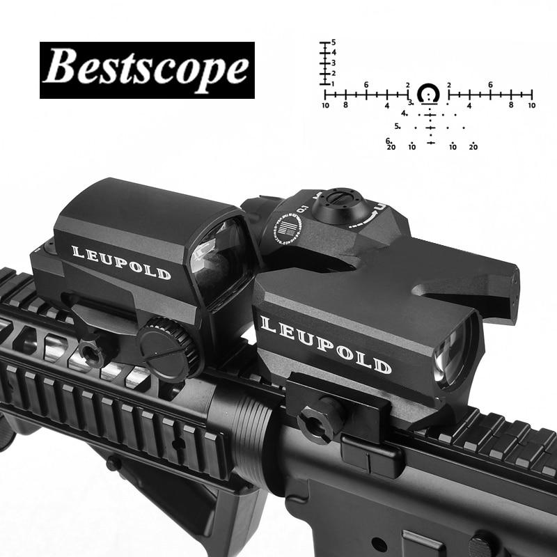 LEUPOLD D-EVO Dual-Enhanced Vista Ottica Reticolo Portata del Fucile di Lente di Ingrandimento con LCO Rosso di Vista del Puntino Reflex Sight Rifle Mirini