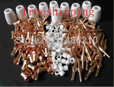 NEW 305 pcs plasma cutter cutting consumables for pt31 cut40 cut30 cut50 CT520 520TSC tips electrodes double eleven shopping spree 160pc pt31 lg40 air plasma cutter cutting consumable for cut30 40 50 consumables tips electrodes