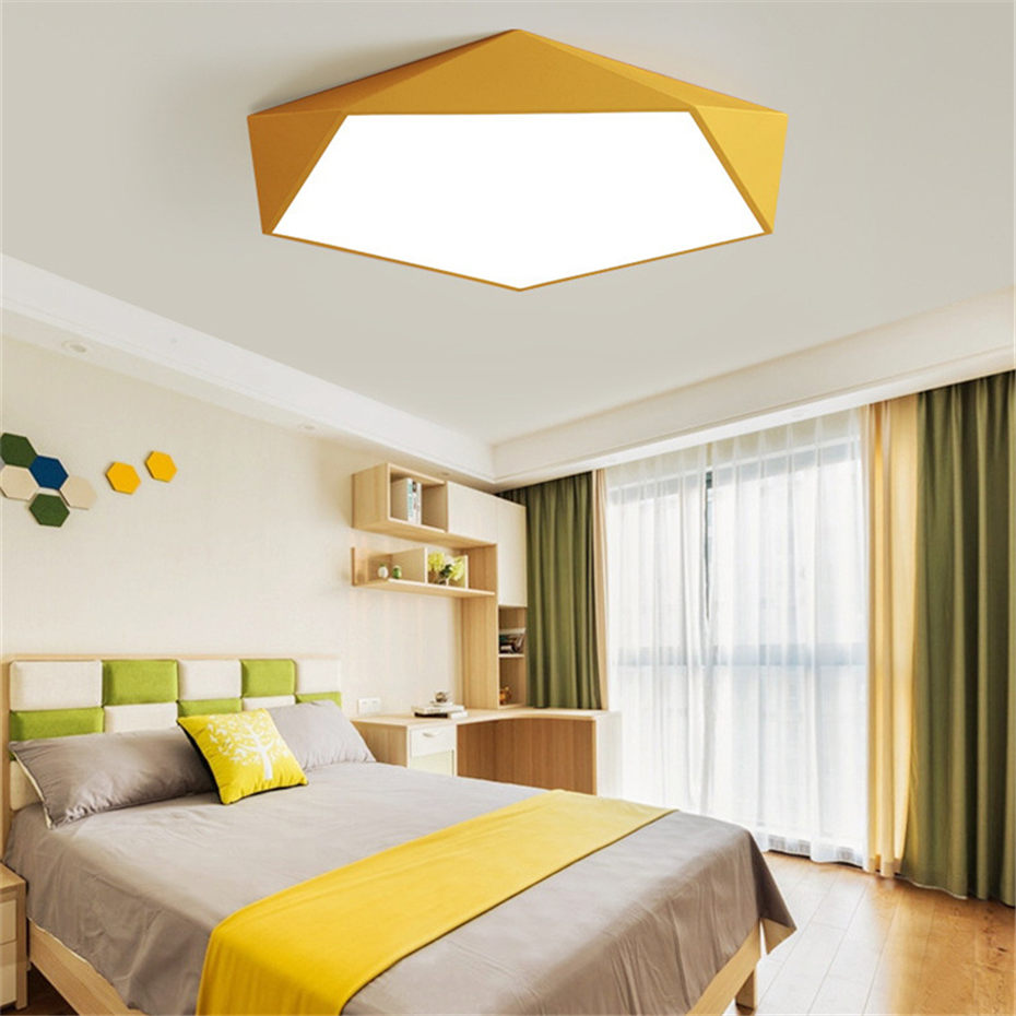 Dimmable LED Ceiling Lamps Design Creative Geometry luminaria Living Room Aisle balcony lampe plafond chambre Ceiling Lighting in Ceiling Lights from Lights Lighting