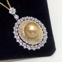 Fine Jewelry Natural Golden Pearls 12 13mm Necklaces For Women