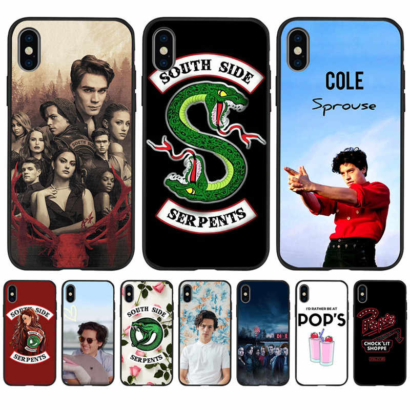 Американский ТВ ривердейл Southside Serpents для iPhone X XR XS Max 5 5S SE 6 6S 7 8 Plus чехол для телефона Funda Coque Etui