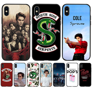 American TV Riverdale Southside Serpents For iPhone X XR XS Max 5 5S SE 6 6S 7 8 Plus phone Case Cover phone Funda Coque Etui(China)