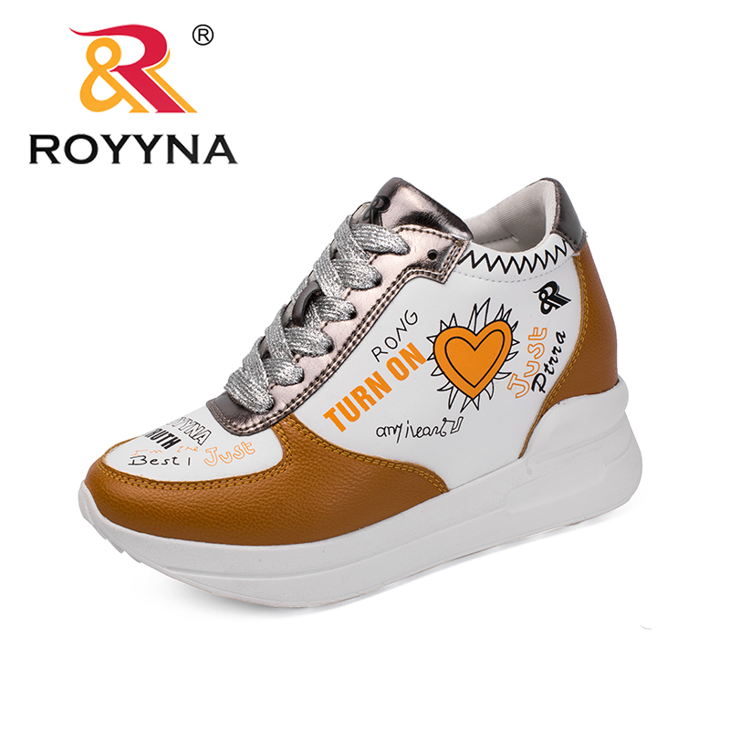 ROYYNA New Fashion Style Women Sneakers Shoes Lace Up Femme Comfort Shoes Microfiber Feminino Leisure Shoes Zapalillas Mujer