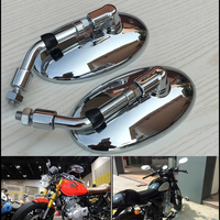 Chrome Retro Mirror Motorcycle Rearview Side View Vintage M10 Sliver Plating for Scooter Baron BMS Cafe Racer VESPA Retro Mirror