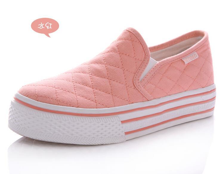 resorte pedal Mujeres del de de 2015 del perezoso lona zapatos SPAvPx