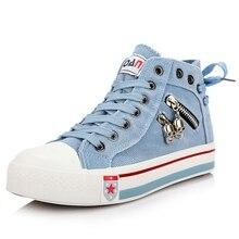 Femmes Denim Women Sneakers Shoes