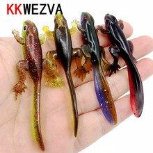KKWEZVA NEW 6pcs 3.8g/8cm Soft Bait Fishing Lure Shad Manual Silicone Bass Minnow Bait Swimbaits Plastic Lure Pasca