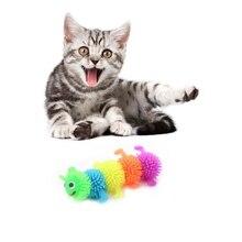 Собака Кошка питомец для нажимных игрушек смешная собака в форме животного разноцветная резиновая игрушка для кошек мягкая имитирующая Релакс