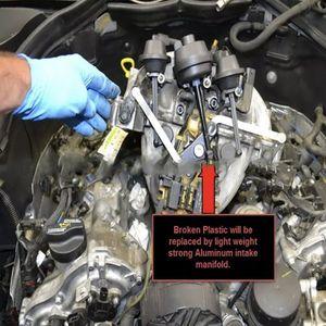 Image 3 - 메르세데스 벤츠 M272 M273 용 자동차 흡기 매니 폴드 에어 플랩 스테인레스 스틸 나사
