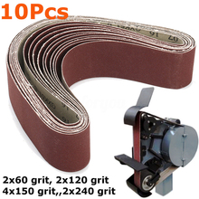 10pcs Sanding Belts for Grinding Polishing Mixed 60/120/150/240 Grit 50 x 686 mm (China)