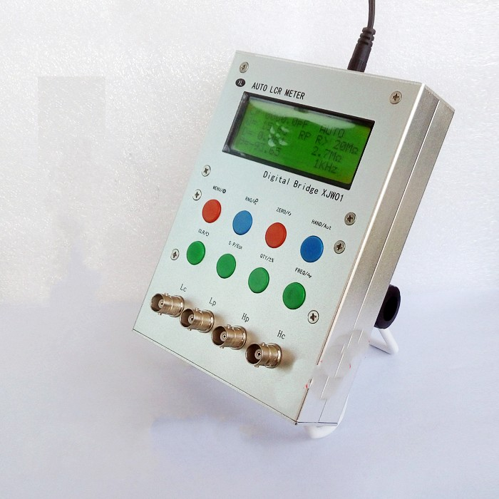 High Precision Digital Bridge LCR Tester Resistor, Inductance, and Capacitance ESR Meter high precision digital capacitance inductance meter auto ranging component tester 500kh lc rc oscillation inductance multimeter