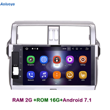 Aoluoya RAM2G+16G Android 7.1 CAR DVD Player GPS Navigation For Toyota Prado 150 2014 2015 2016 Radio Audio multimedia head unit