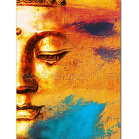 New Arrived Handmade Abstract Half Face Buddha Oil Painting for Wall Decoration Handmade Half Portrait Buddha Painting Pictures