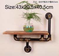 L:43x20.5x40.5cm Vintage American LOFT Style Industrial Ventilating Wall Decorative Iron Shelf Home Decor Furnishing